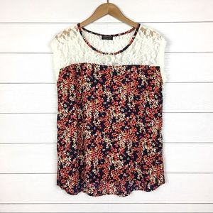 Papermoon Stitch Fix Birch Lace Floral Blouse